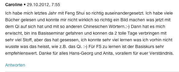 Referenzen von FengShui Ausbildung 01-3