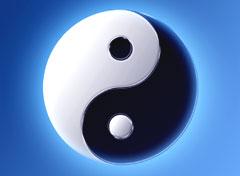 Yin Yang Symbol 5 Elemente