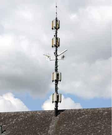 Elektrosmog durch Handy-Mast